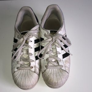Adidas striped shoes